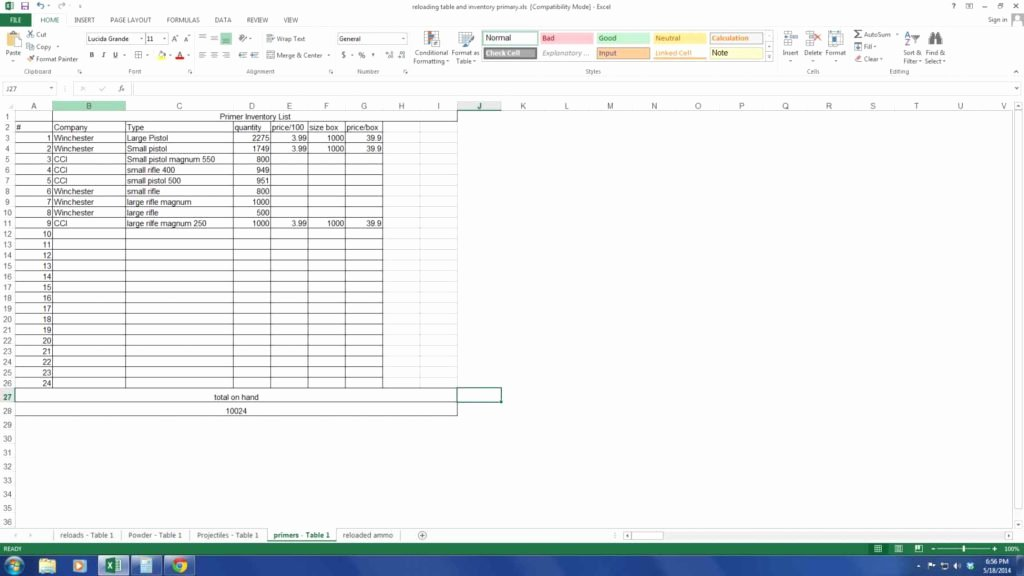 Inventory Control Templates Excel Free Inventory Tracking