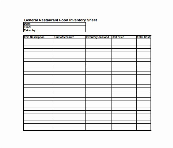 Inventory Sheet Template 14 Free Excel Pdf Documents