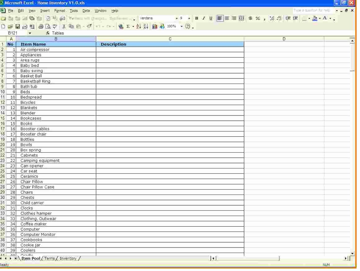 Inventory Spreadsheet Template for Excel Microsoft
