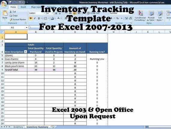 Inventory Tracker Excel Inventory System for Small Business