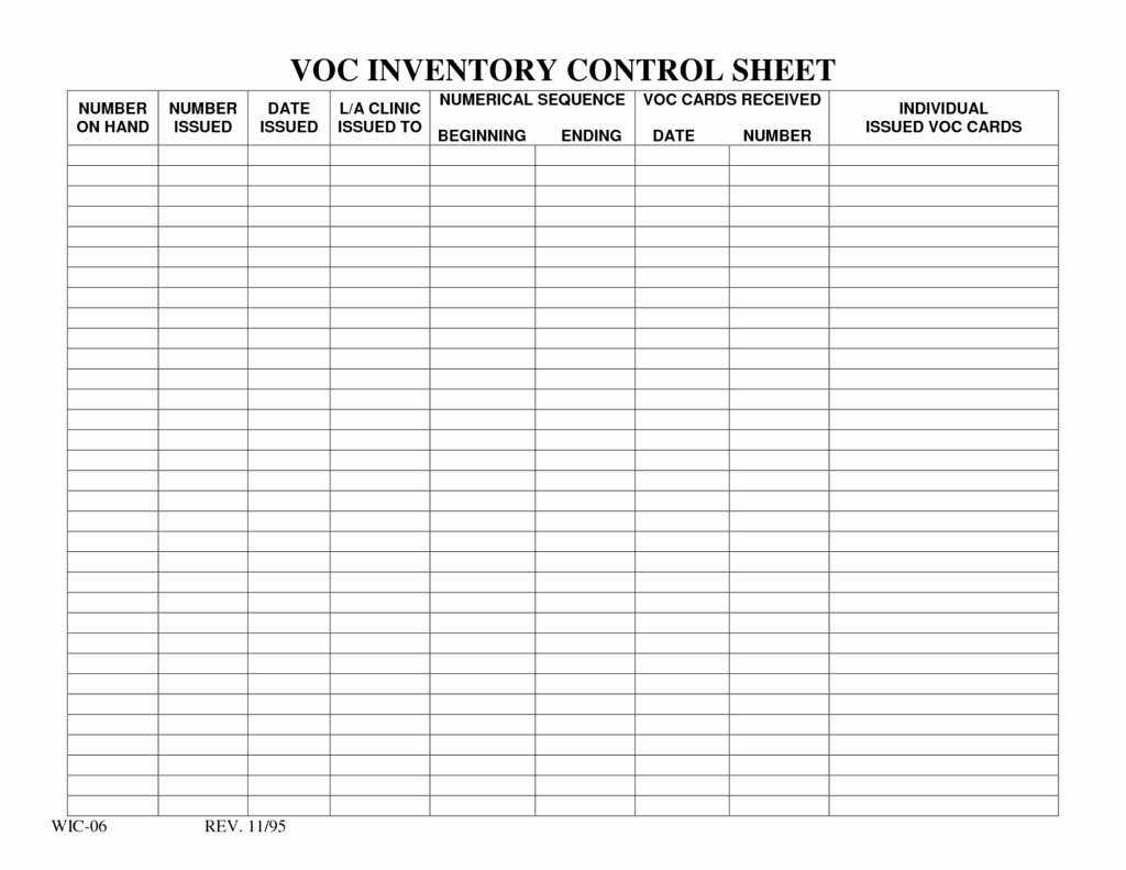 Inventory Tracking Spreadsheet Template Tracking