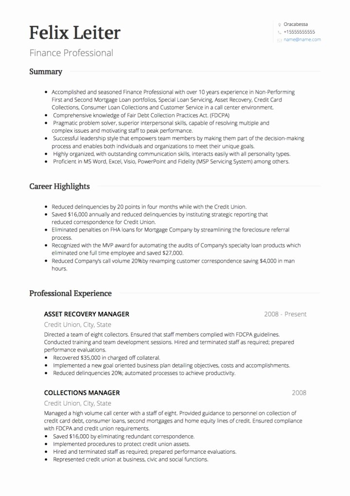 Investment Banking Cv Examples and Template
