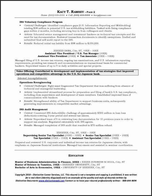 Investment Banking Resume Template – Latter Example Template