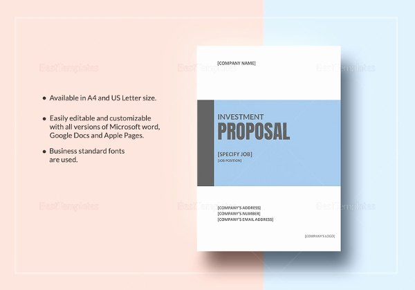 Investment Proposal Templates 17 Free Sample Example