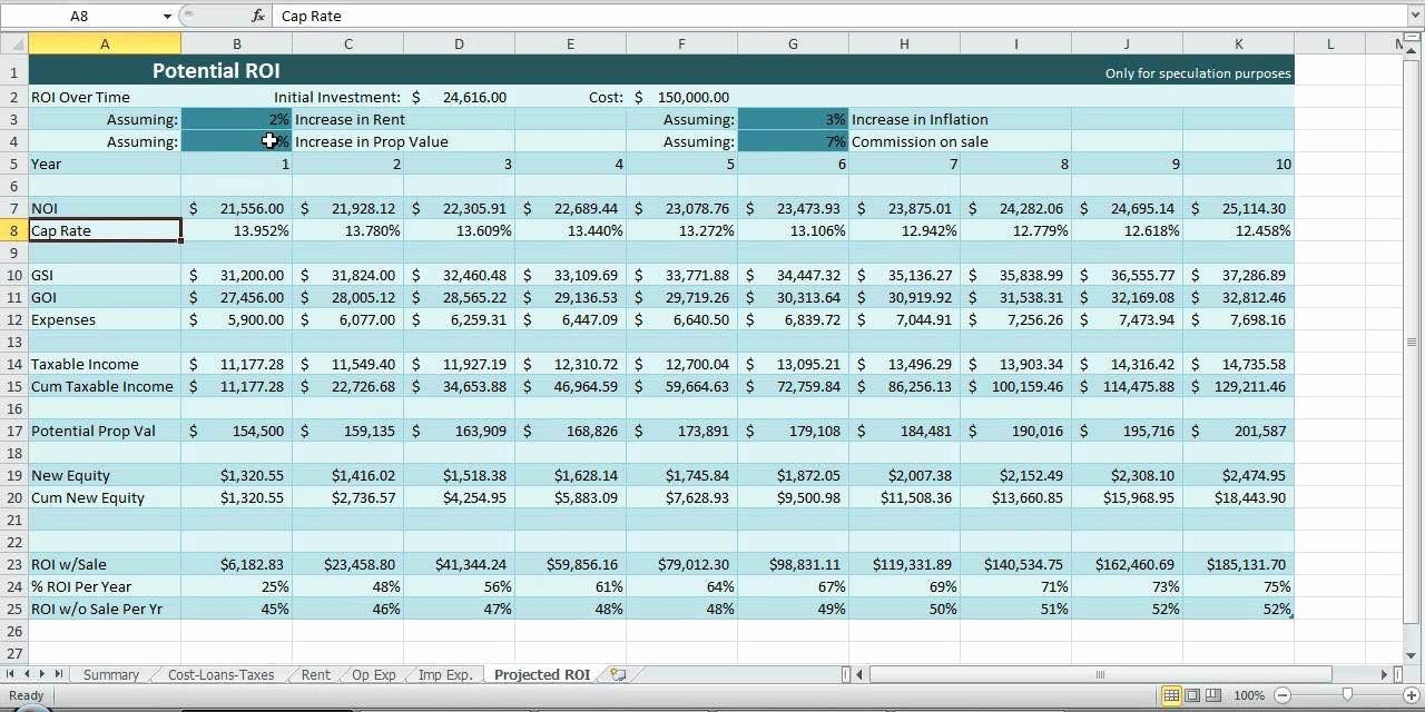Investment Spreadsheet Template – Spreadsheet Template