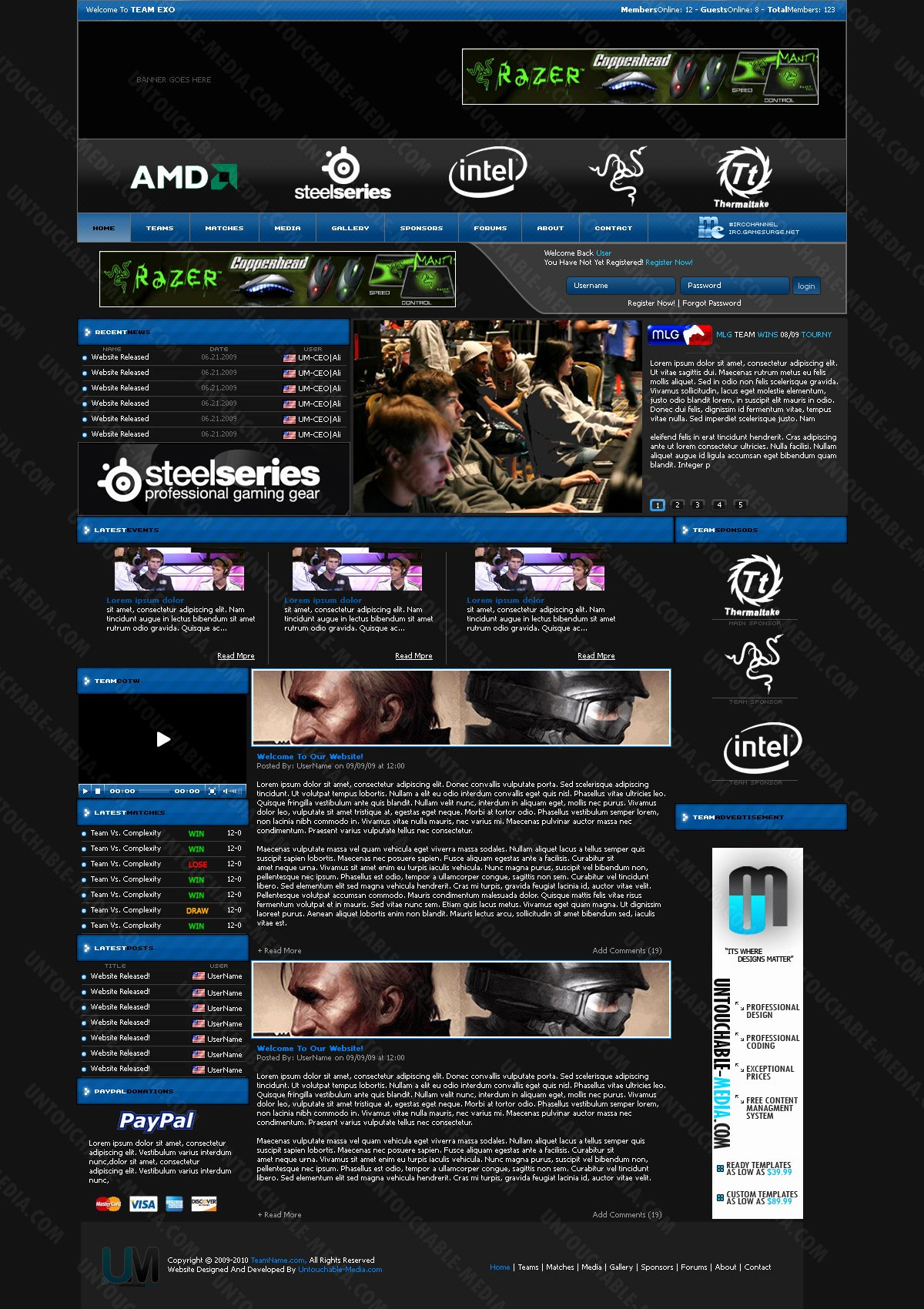 Invidious Gaming Template by Untouchable Media On Deviantart