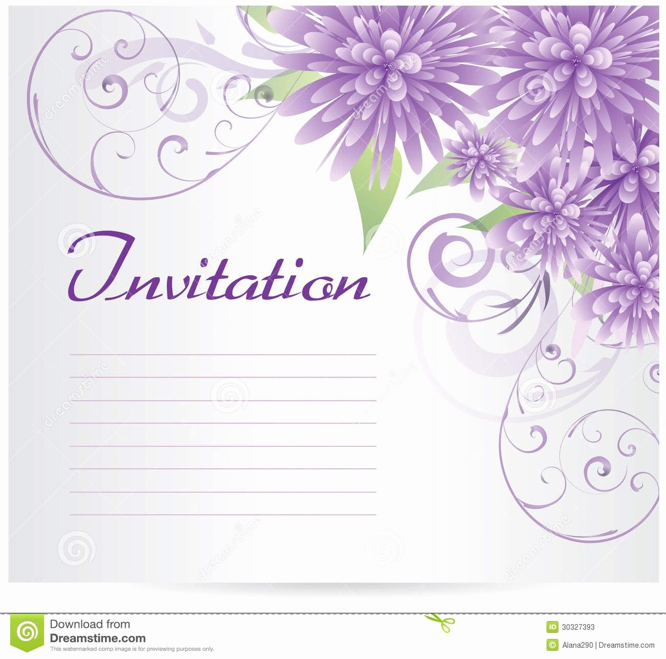 Invitation Blank Template