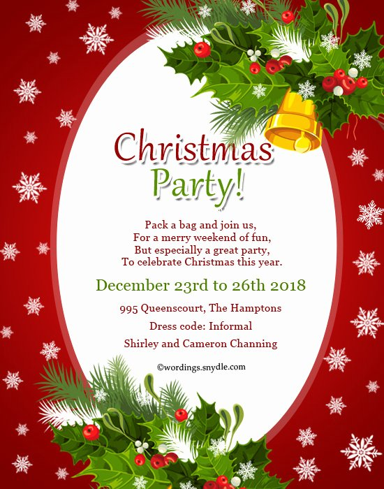 Invitation Card for Christmas Party – Fun for Christmas