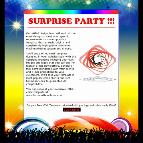 Invitation Email format for Party