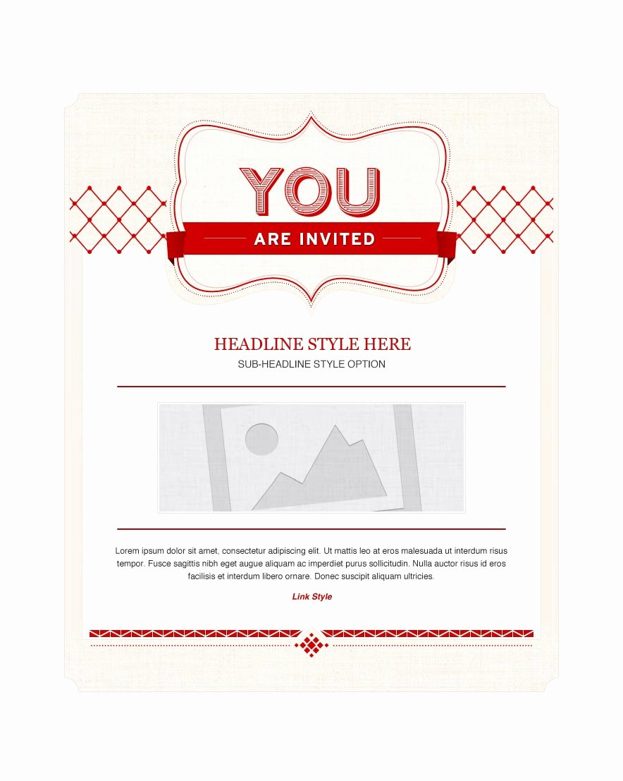 Invitation Email Marketing Templates Invitation Email