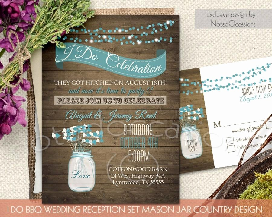 Invitation I Do Bbq Wedding Invitation Weddbook