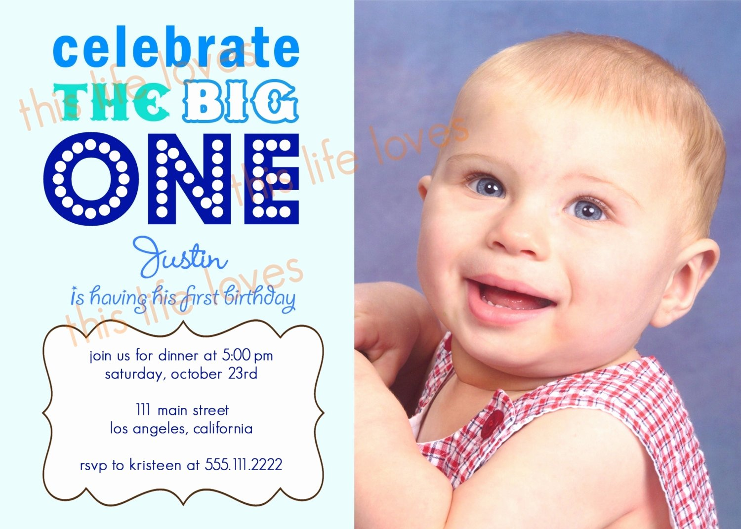 Invitation Letter for 1st Birthday Party