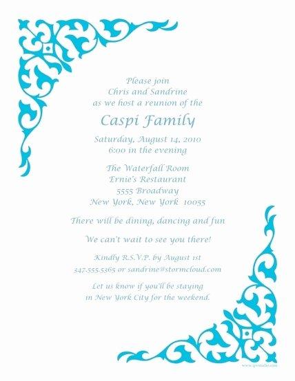 Invitation Letter Reunion