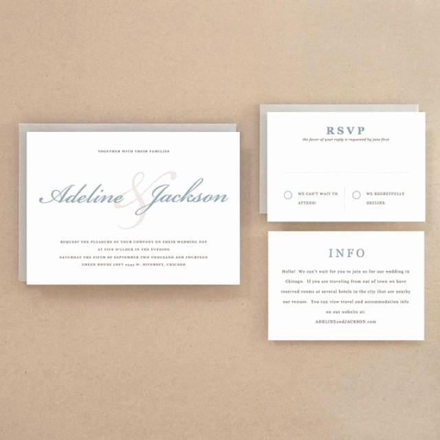 Invitation Printable Wedding Invitation Template
