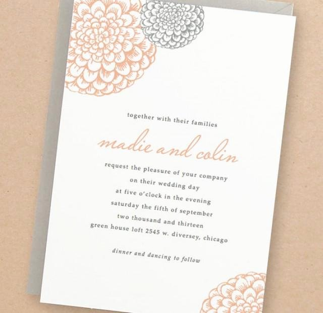 Invitation Printable Wedding Invitation Template