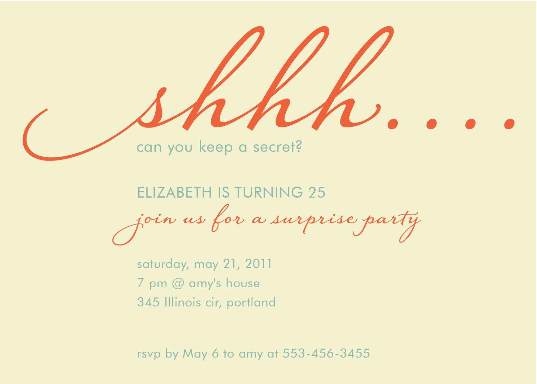Invitation Surprise Birthday Party