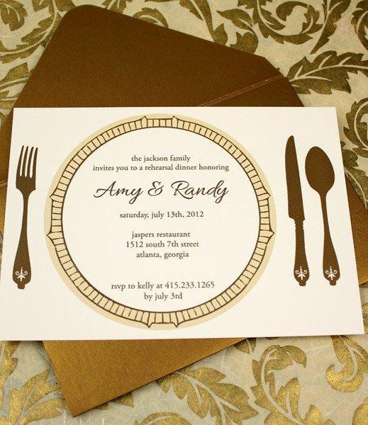 Invitation Template – Elegant Rehearsal Dinner Invitation