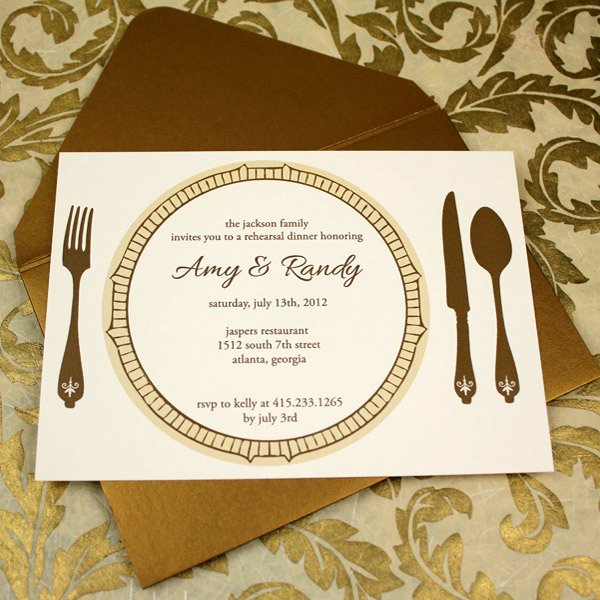 Invitation Template – Elegant Rehearsal Dinner Invitation