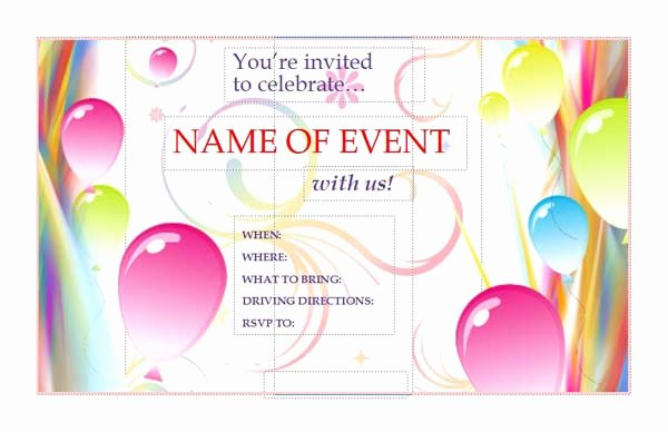 Invitation Template Microsoft Publisher