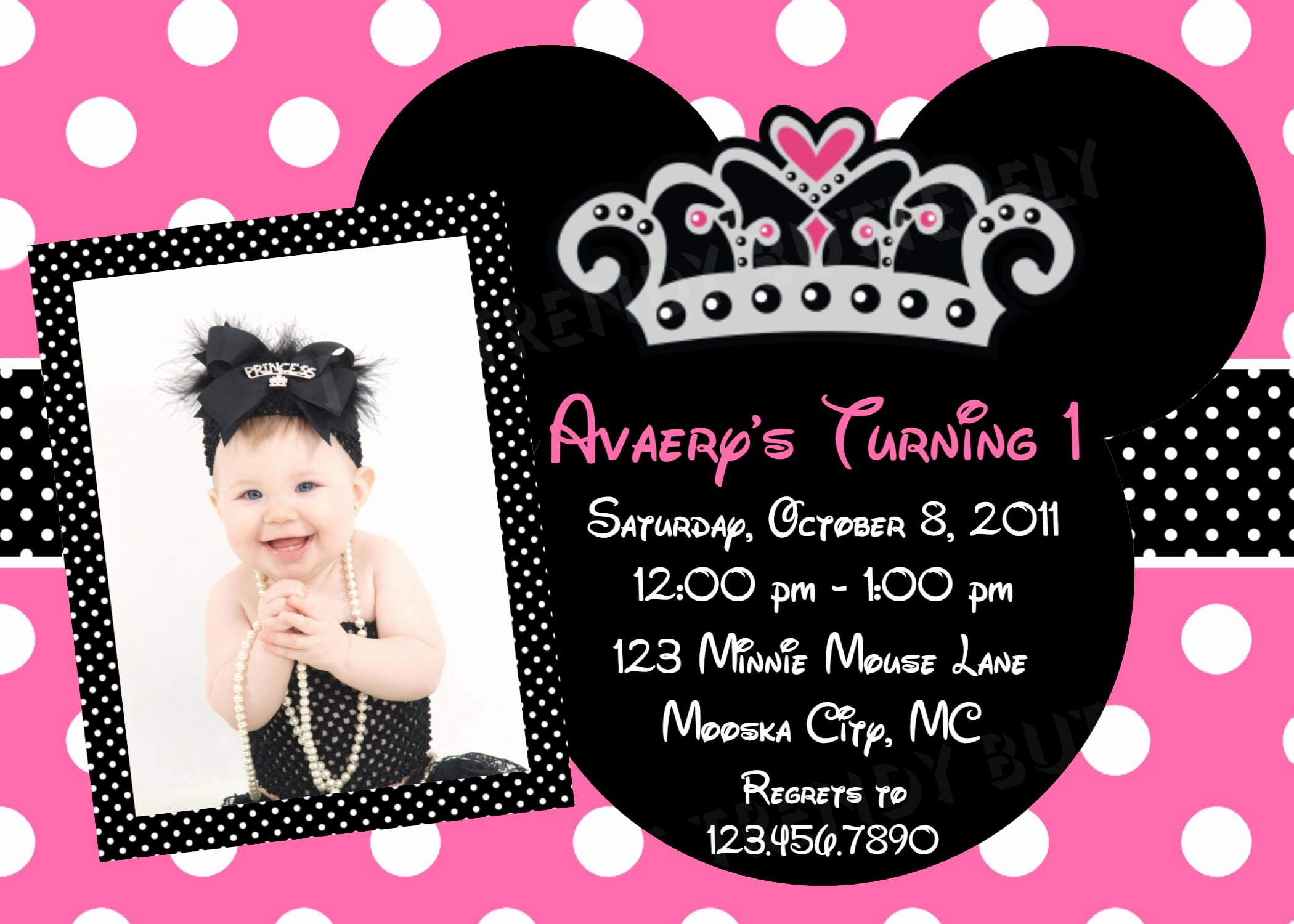 Invitation Template Minnie Mouse