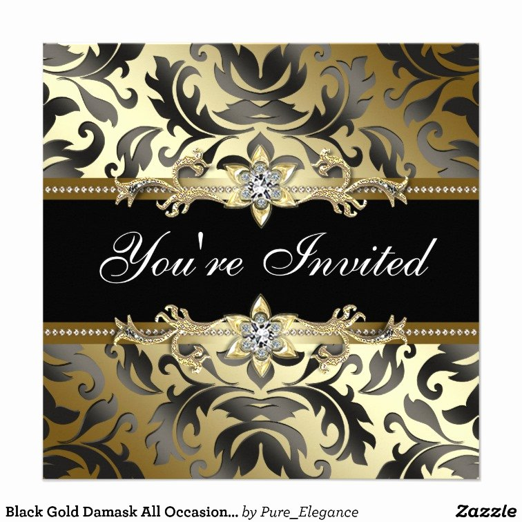 Invitation Template This Beautiful Black and Gold Party
