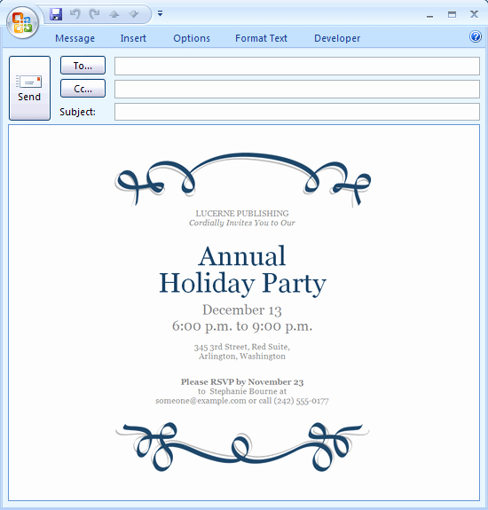 Invitation Template to Email