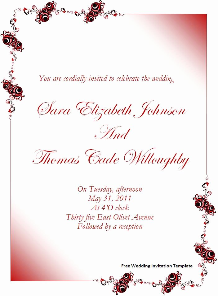 Invitation Template Word