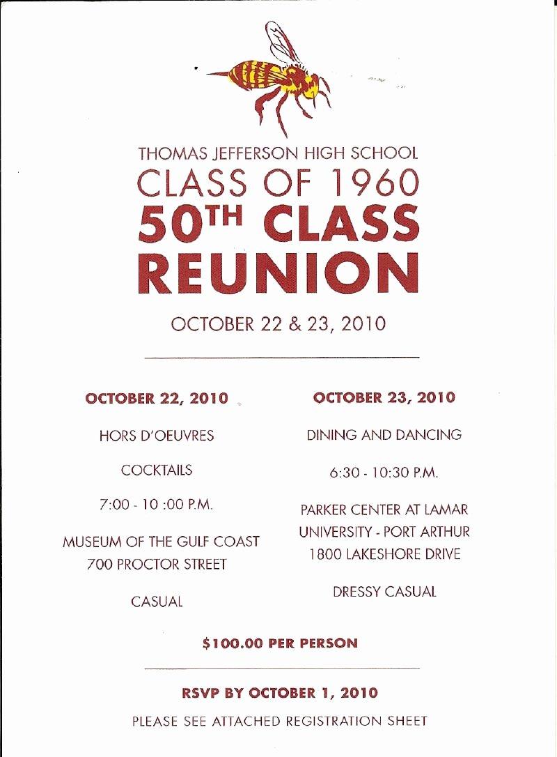 Invitation to A Reunion