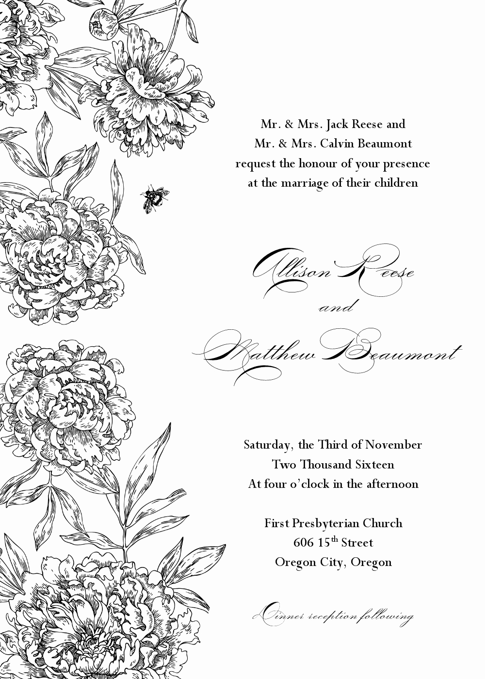 invitation wedding templates