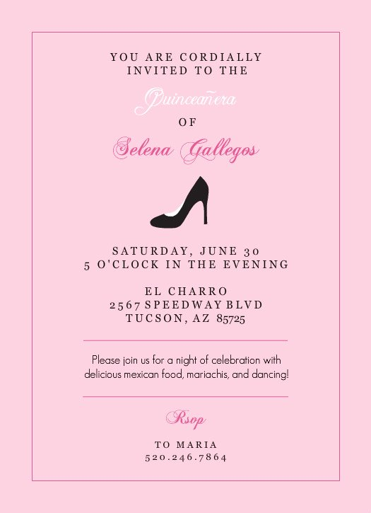 Invitations Quinceanera Template