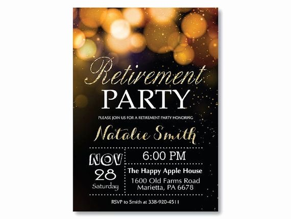 Invitations Retirement Party Free Printable Latter Example Template