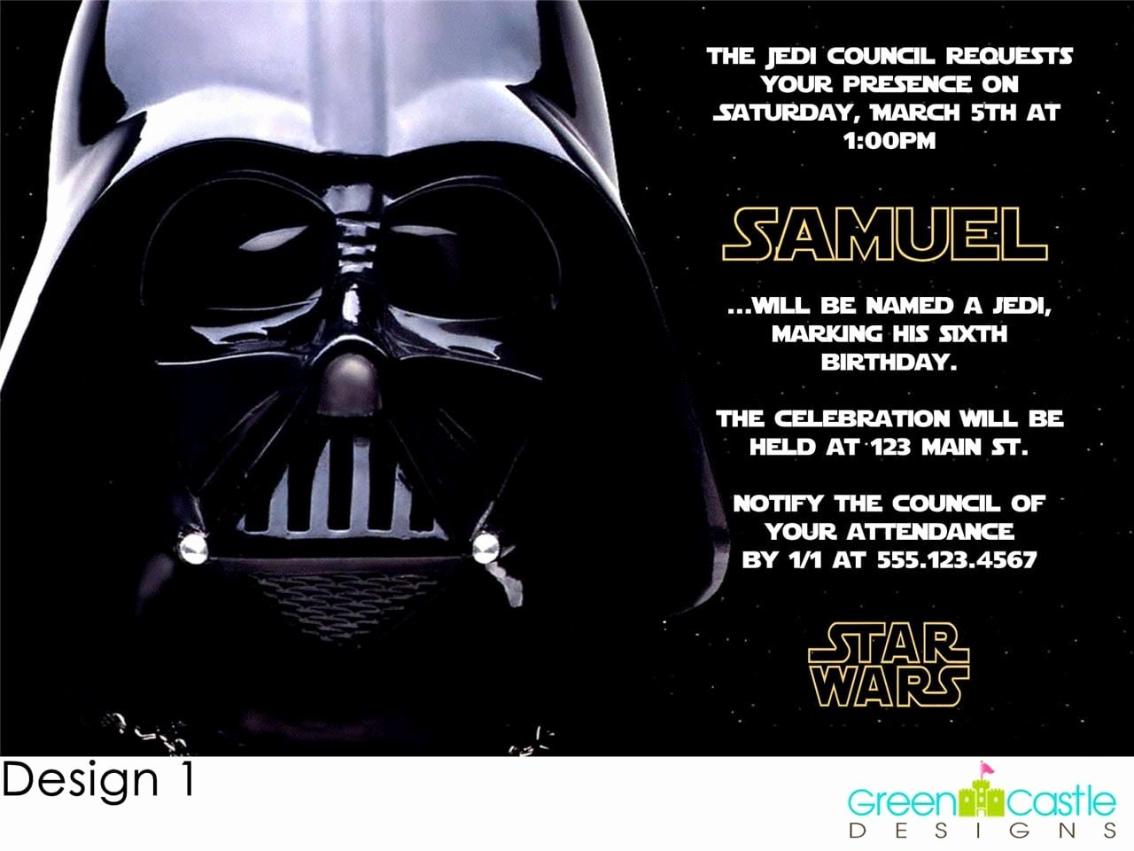 Invitations Star Wars