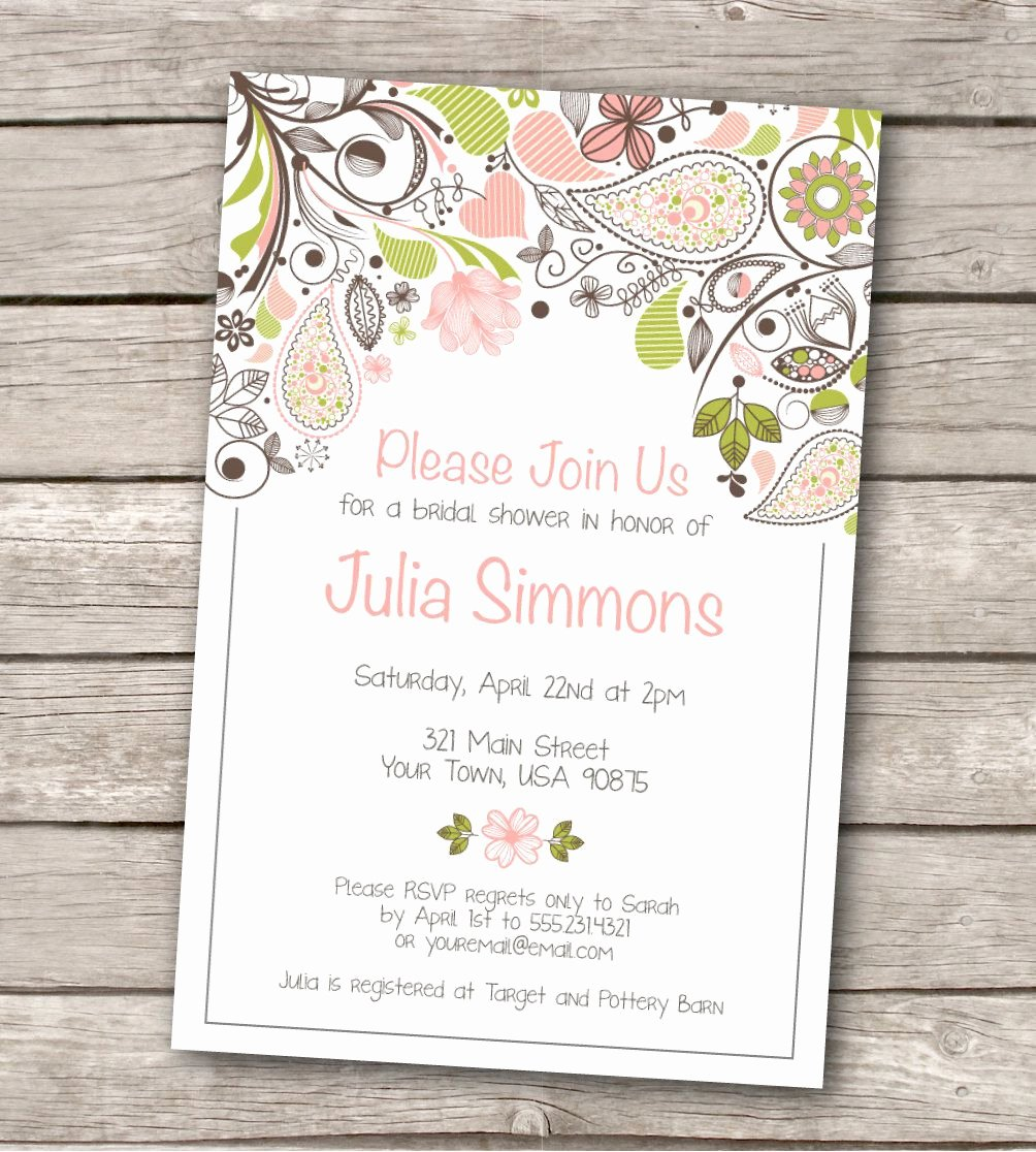 Invitations Templates Vintage Wedding Shower Invitations
