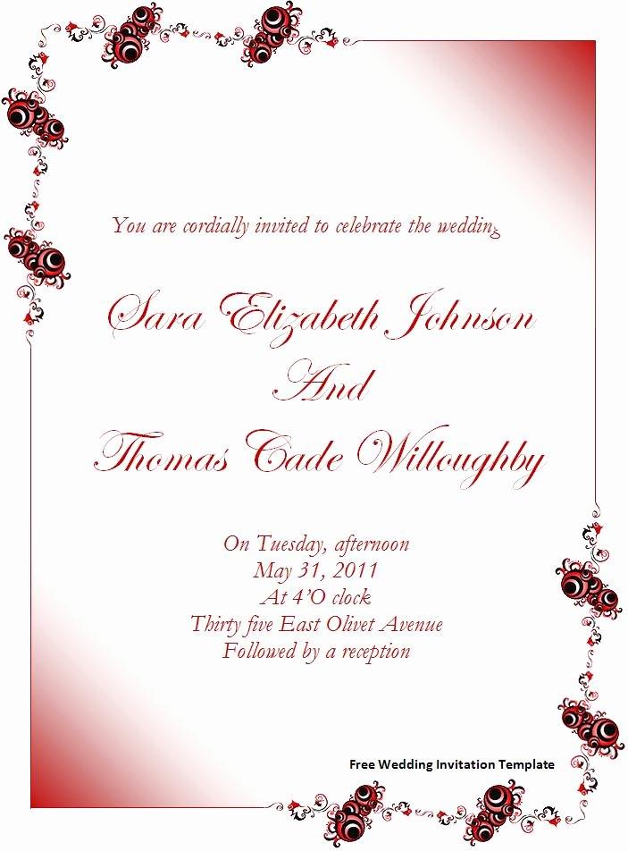Invitations Templates Word Invitation Template