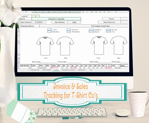 invoice sales system t shirt makers