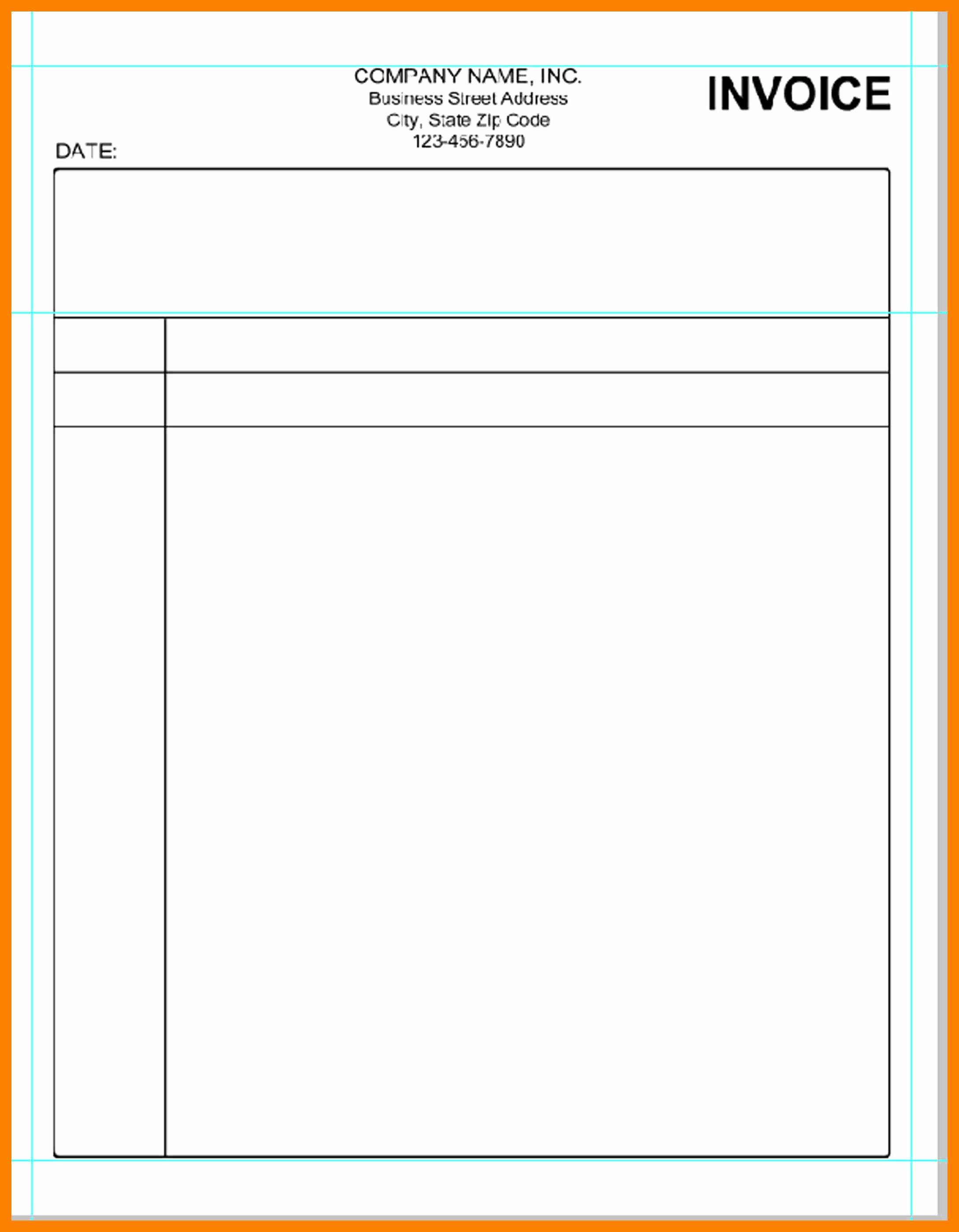 Invoice Blank Bamboodownunder