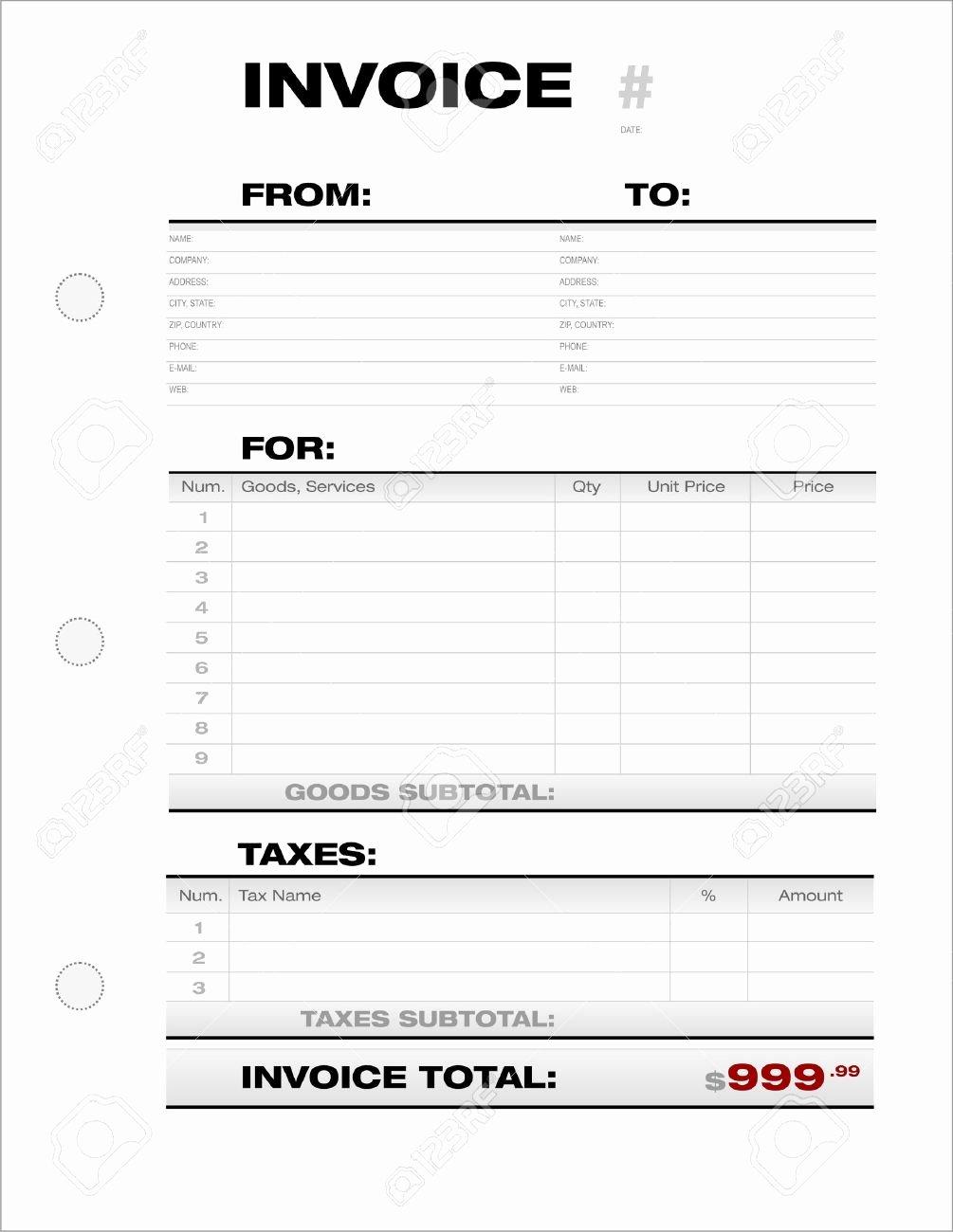 Invoice Document Template
