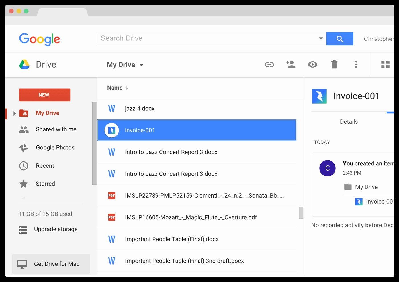 Invoice Google Drive Invoice Template Ideas