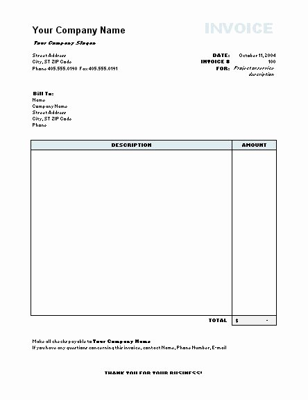 Invoice Model Word