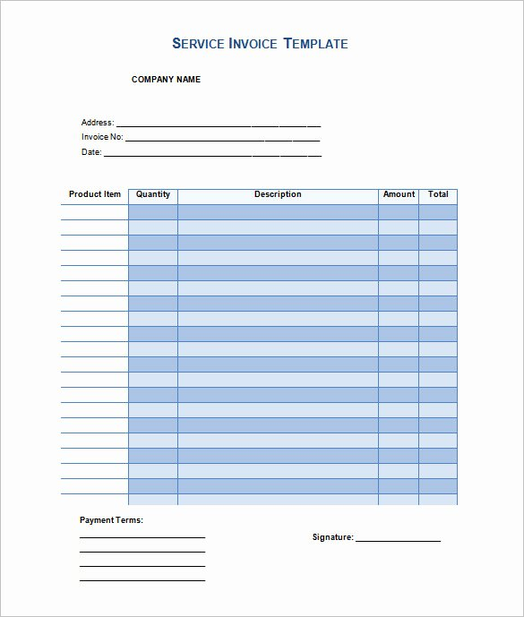 Invoice Template 47 Free Word Excel Pdf Psd format