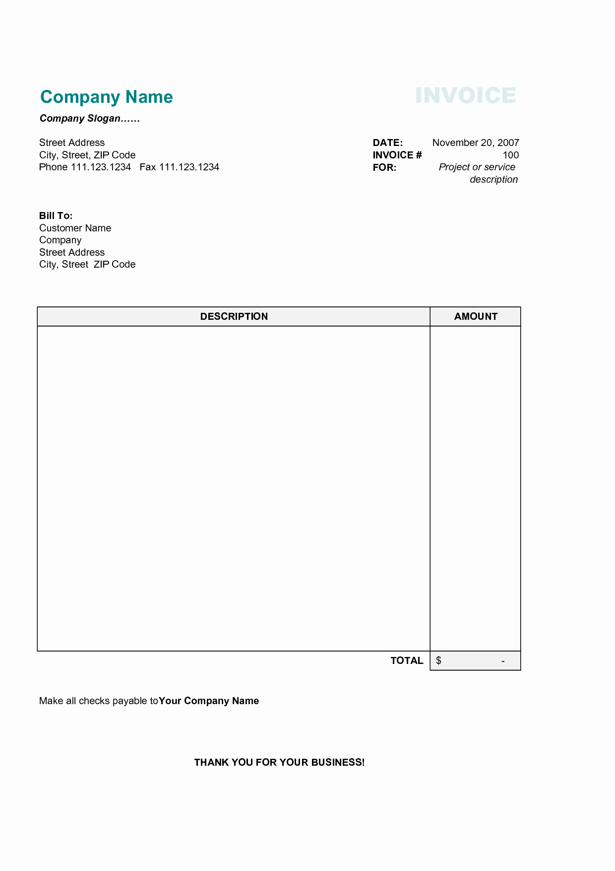 Invoice Template Category Page 1 Efoza