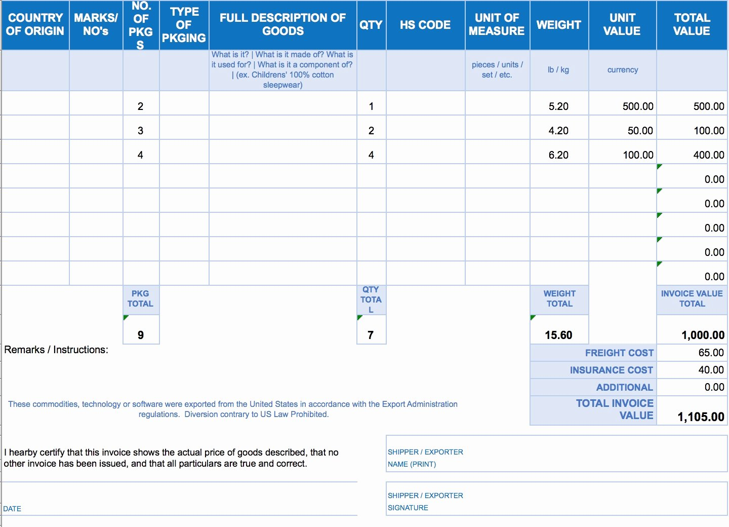Invoice Template Excel Download Free Invoice Template Ideas