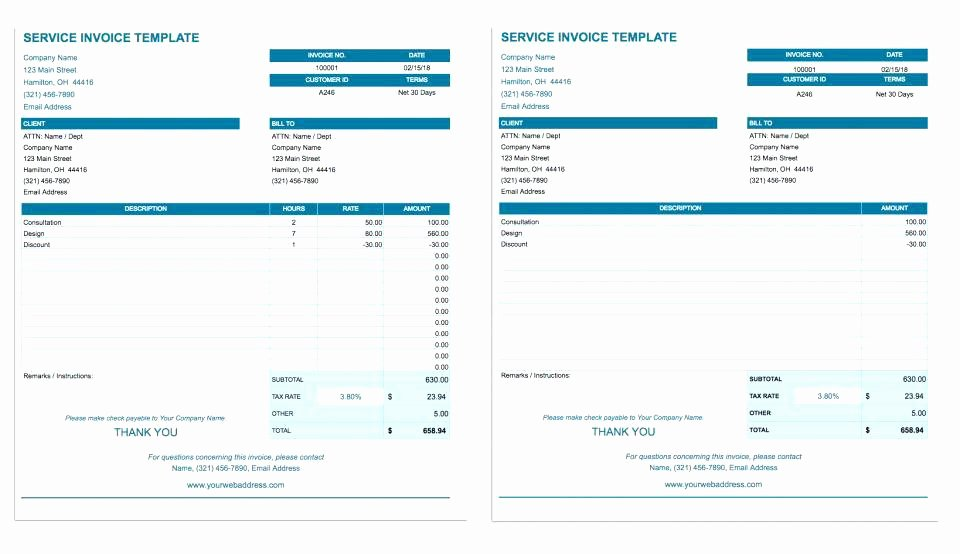 Invoice Template for Google Docs Free Templates