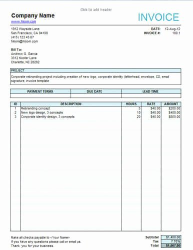 invoice template freelance 1772