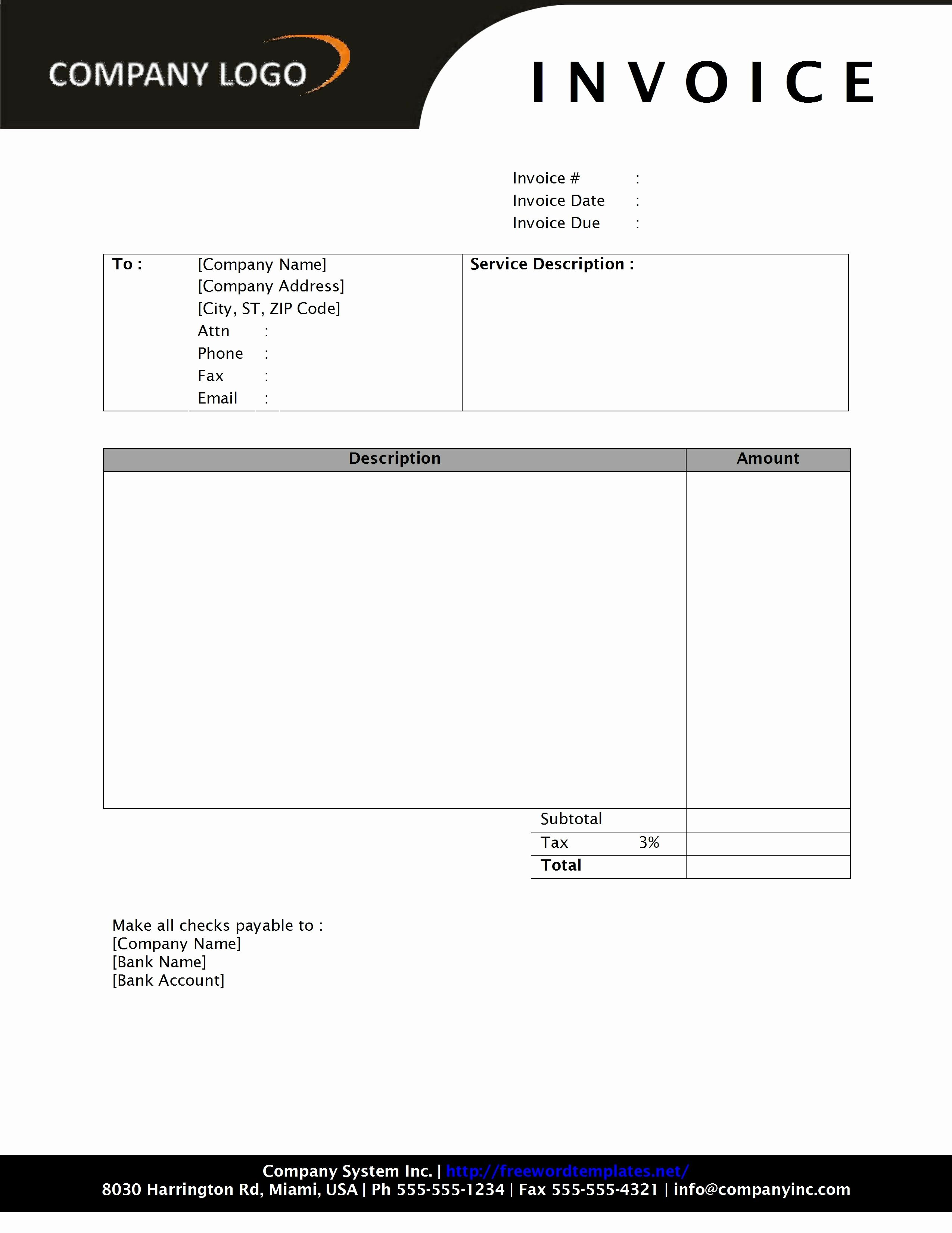 Invoice Template Word 2010