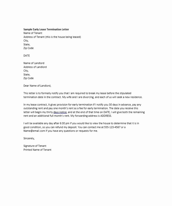 Involuntary Termination Letter