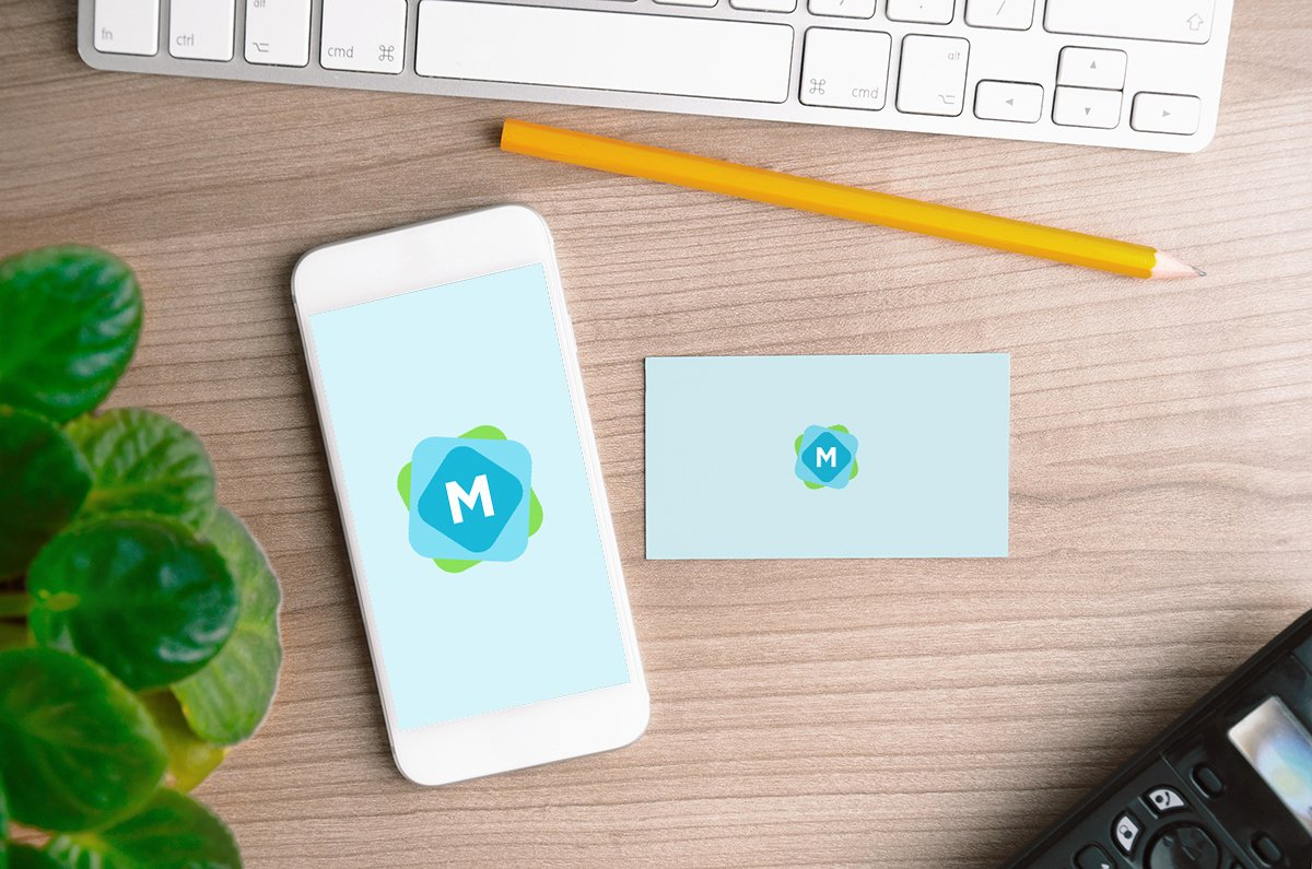 iPhone & Business Card Mockup Mockup Templates