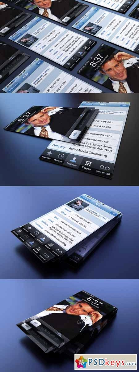 iPhone Business Card Free Download Shop