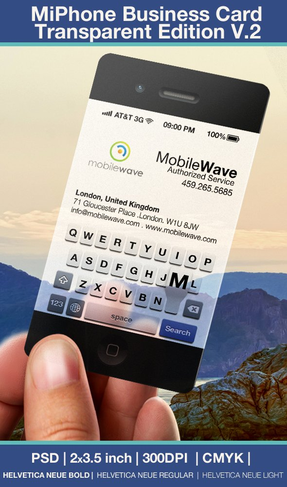 iPhone Business Card Template Gallery Free Templates Ideas