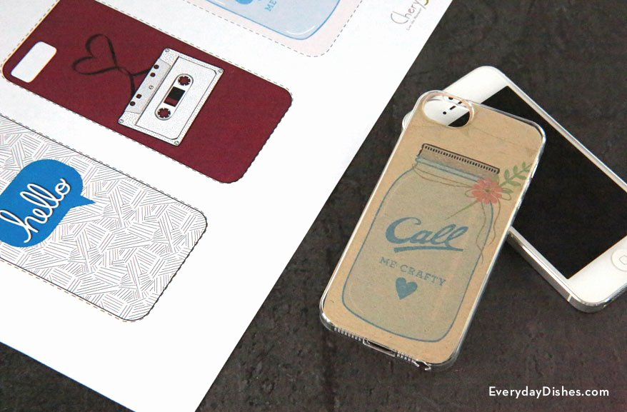 iPhone Case Template Printable Everyday Dishes & Diy
